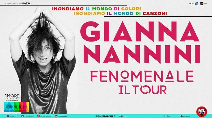 5a4cc98bb1 Nuova data FENOMENALE – IL TOUR 2018   Gianna Nannini